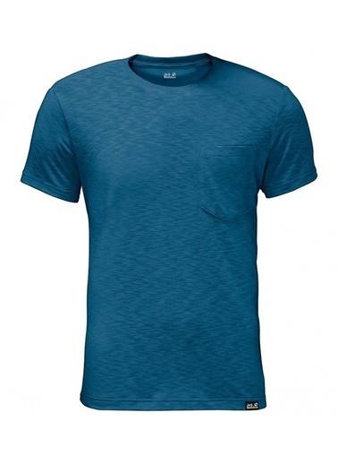Jack Wolfskin Travel Tee Erkek T-Shirt - 1805591-1121 Mavi